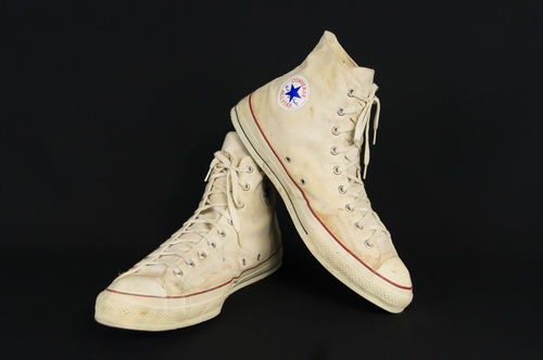 Vintage Converse All Star Chuck Taylor High Top Basketball Shoes Great Display