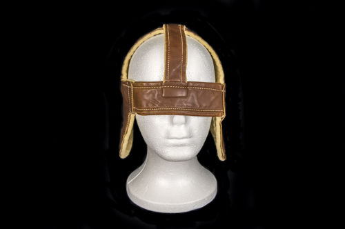 1930's Pereless Bros Leather Four-Spoke Football Helmet