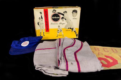 "Wilson New Old Stock Children's ""Famous Player"" Baseball Uniform in Picture Box"