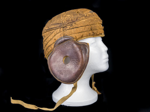 Turn-of-the-Century Flat-Top Football Helmet