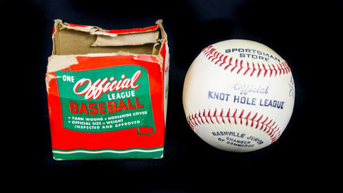 Knot Hole League Baseball in Box | Nashville Junior Chamber