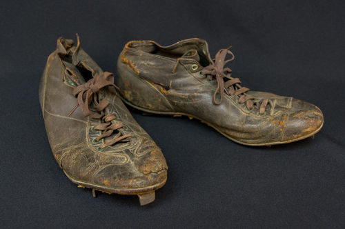 "Vintage Turn-of-the-Century Early ""Hi-Top"" Spalding Leather Baseball Cleats"