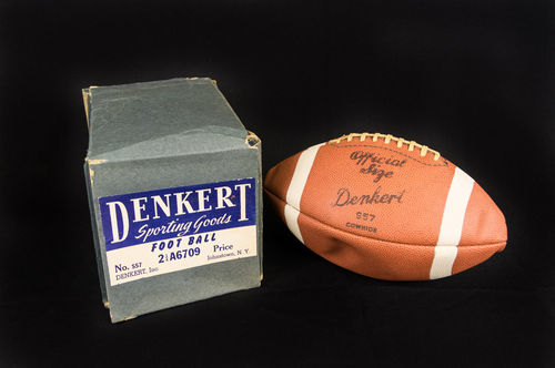 Vintage New old stock with Box Denkert Cowhide No S57 Football