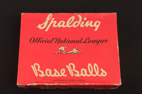 BOX ONLY: 1940's Official National League NO. 1 Spalding Base Balls Master Box