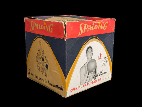BOX ONLY: Bill Sharman Spalding Basketball Picture Box